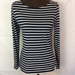 Boden Womens Long Sleeve T Blue White Stripped